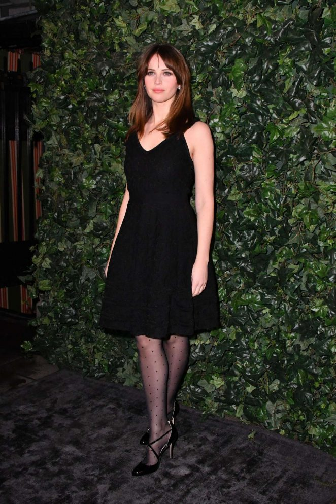 Felicity Jones – Harvey Weinstein Pre BAFTAs Dinner in London