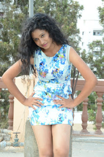 Actress Priyankha Stills in Floral Short Dress at Golmal Gullu Movie Pressmeet 0238.JPG