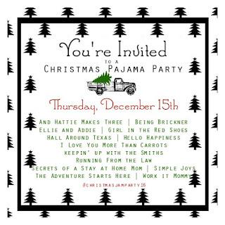 Christmas Pajama Party link up 2016