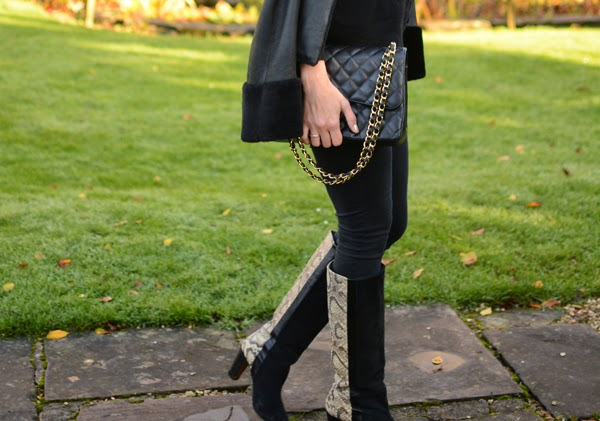 Snake Boots - Winter Fashion - Autumn Fashion - Chanel 255 - Leather Cape