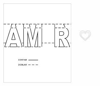 Tarjetas 3d de amor para imprimir