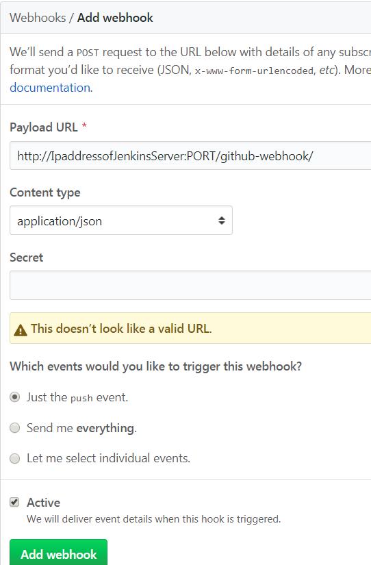 Rohan Walia's Tech Blog: Webhooks for Github & Jenkins