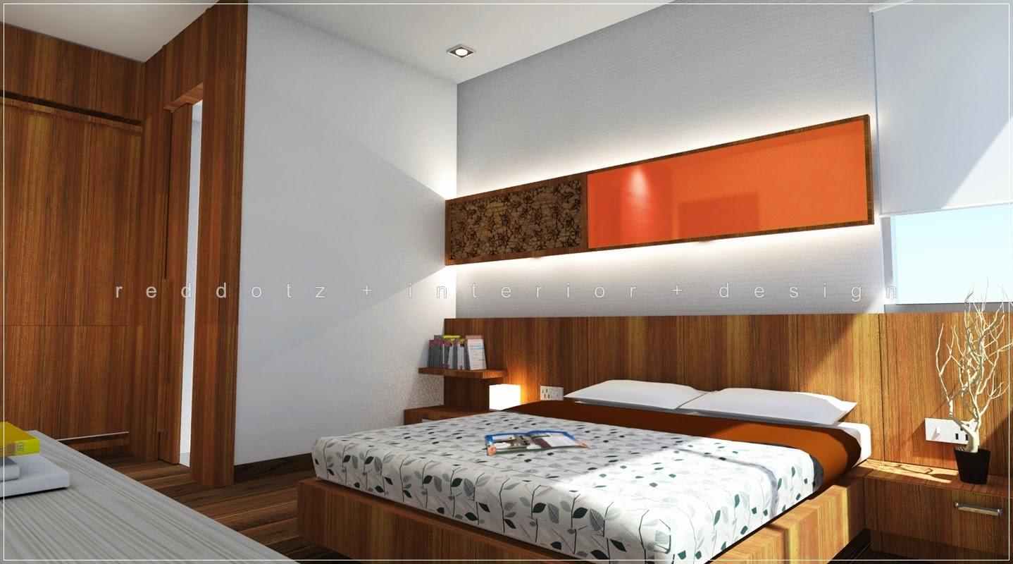 Colour glass characteristic in bedroom interior design for Bedroom design malaysia