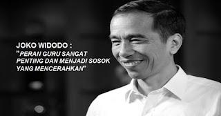 Presiden Jokowi : Peran Guru Sangat Penting dan Menjadi Sosok yang Mencerahkan