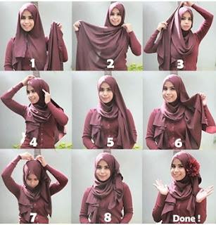 cara memakai hijab pesta modern terbaru
