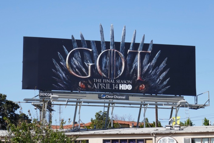Game of Thrones final season dragon extension billboard
