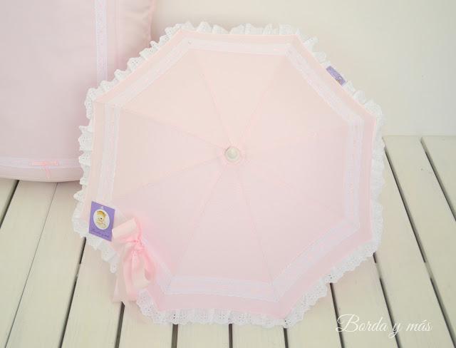 parasol silla BEBECAR IPOP XL rosa blanco