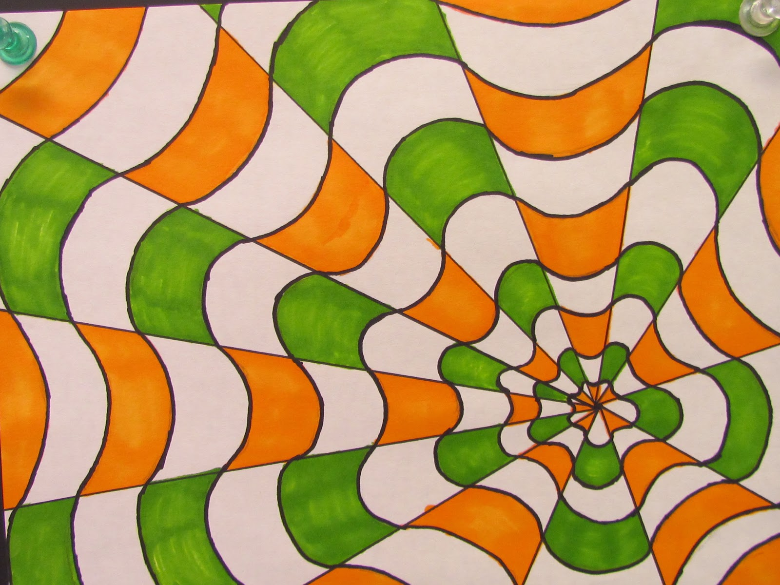optical illusion illusions lesson amazing draw drawing hand paper fickert adventures miss today introducing started pencils textas students skipping trouble