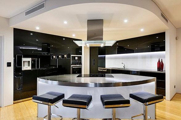 Fachada y diseo interior de casa moderna de dos pisos fotos  Construye Hogar