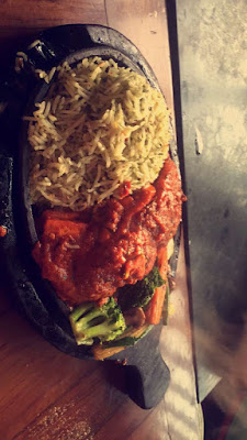 Chilly Paneer Sizzler by Spezia Bistro Cafe, Hudson Lane, Gtb Nagar Delhi