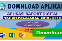 Download Aplikasi Raport Kurikulum 2013 SD SMP SMA Semesr 1 dan Semest 2  terbaru
