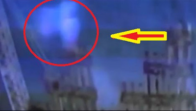 Footage captures 'ghost' rising from the wreckage of the World Trade Centre