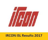 IRCON ISL Results 2017