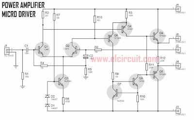Power Amplfier Micro Driver Circuit Diagram