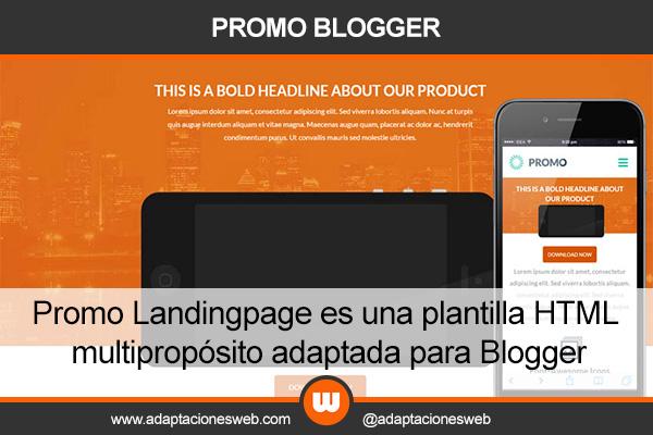 Promo Landingpage - Plantilla Multipropósito para Blogger