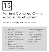 Runtime Compiled C++ for Rapid AI Development