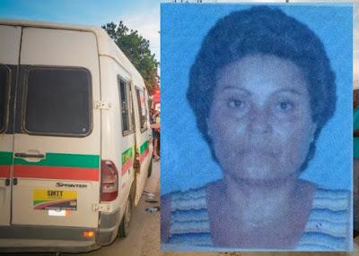 BAHIA / Idosa é assassinada a tiros dentro de van que fazia linha para a Terra Dura