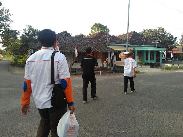 Team bergerak menuju rumah Mabh Supiyar Veteran Perang