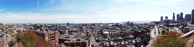 panoramic views of the City of Boston skyline, overlooking the Haymarket, North End, Waterfront, Charlestown and other neighborhoods and landmarks while high above Canal Street.