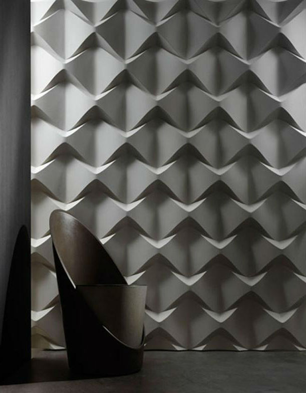 Walls Engraved Plaster Living Room Design Ideas