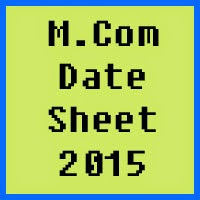 University of Peshawar UPESH MCom Date Sheet 2017 Part 1 and Part 2