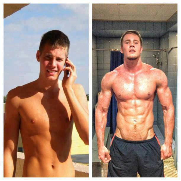 The Healthy Boy Before And After Muscle Building