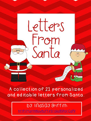http://www.teacherspayteachers.com/Product/Letters-from-Santa-457854