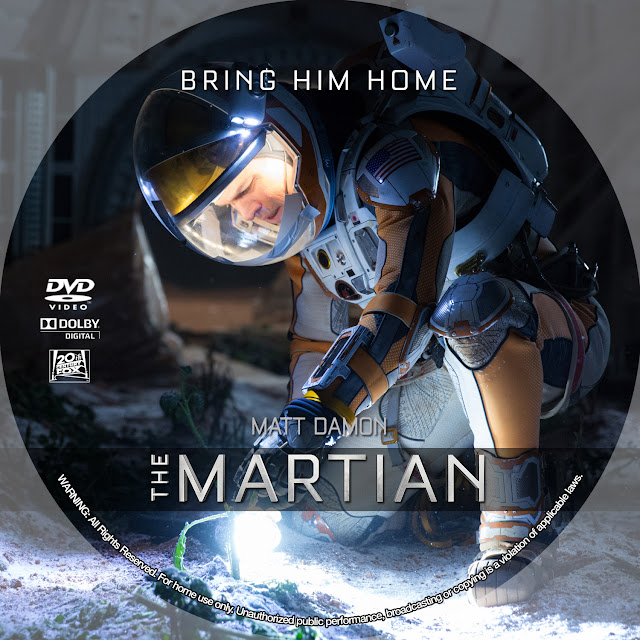 The Martian DVD Label