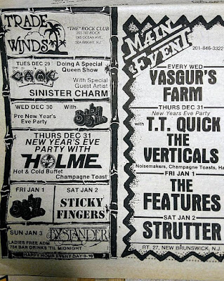 Trade Winds & The Main Event band lineup's from the Aquarian 1981
