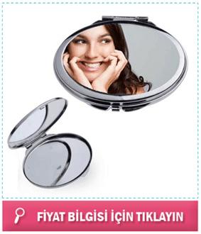 Kişiye Özel Oval Metal Makyaj Aynası