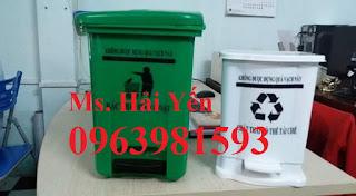 Thùng rác y tế 20 lít, thùng rác y tế đạp chân, thùng đựng rác thải y tế giá rẻ