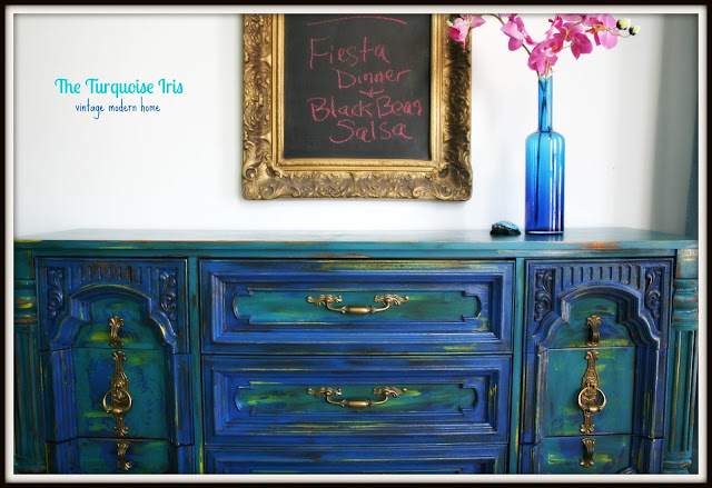 The Turquoise Iris Furniture Amp Art Teal And Cobalt Blue