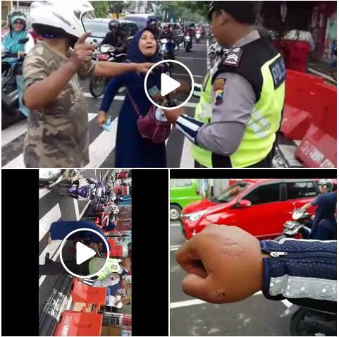 The Power Of Emak-emak Ditilang Polisi Karena Langgar Lalin Malah