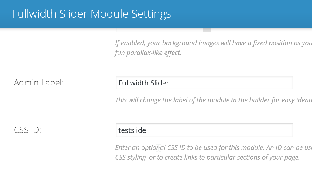 cssDorks: Reduce height of fullwidth slider in Divi