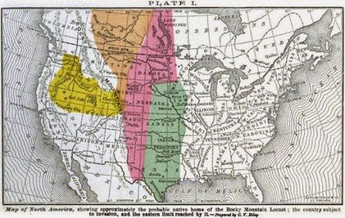 Plaga de langostas Nebraska 1875