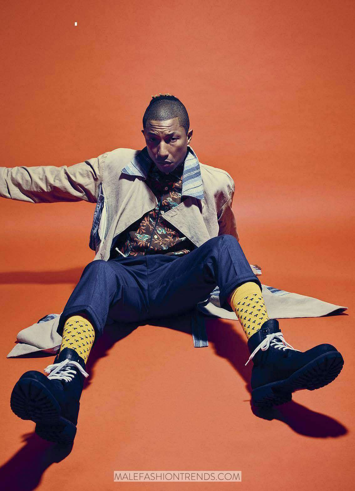 Pharrell Wiliams para Esquire USA por Mario Sorrenti
