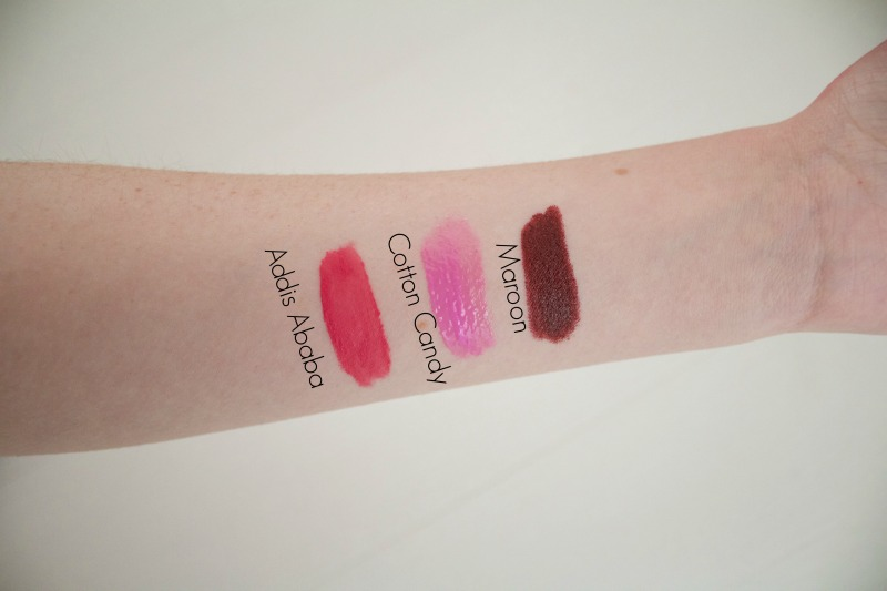 NYX lipstick swatches