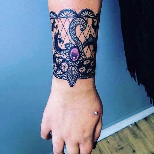 bileklik dantel dövmeleri wristband lace tattoos