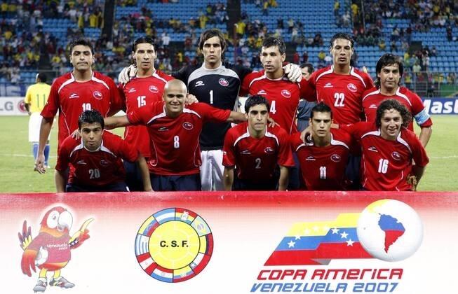 Formación de Chile ante Brasil, Copa América 2007, 7 de julio