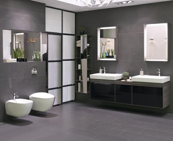 Ba os color gris colores en casa - Colores que contrastan con el gris ...