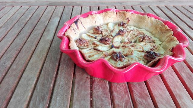 tarta de poma amb massa quebrada sense lactosa