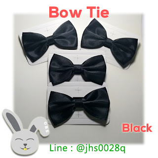black bow tie dasi kupu warna hitam olshop
