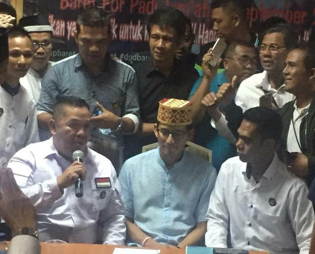 Resmi, Relawan BARET Deklarasi Dukung Prabowo-Sandi Pada Pilpres 2019