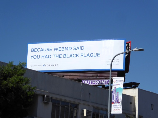 WebMD Black Plague Forward billboard