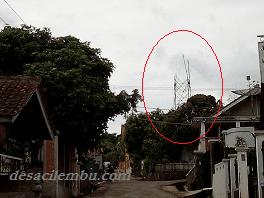 Pembangunan Tower BTS di Desa Cilembu
