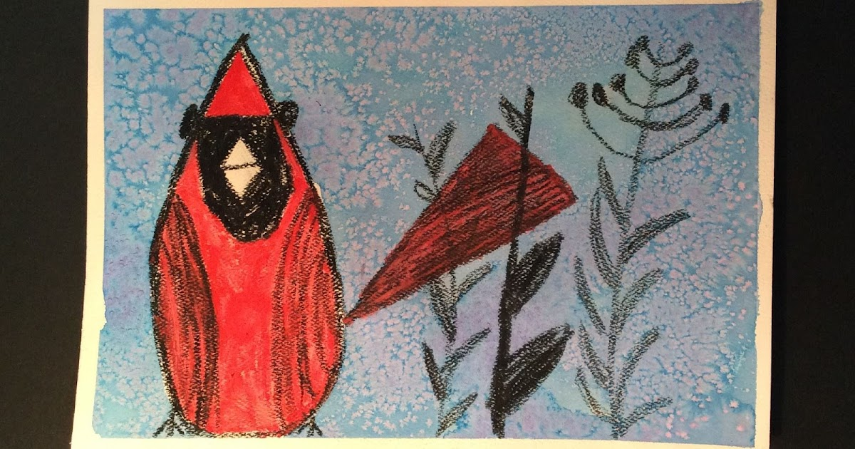 ART ON MY HANDS Charley Harper Winter Cardinals