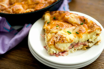 Ham and cheese croissant casserole | Homesick Texan
