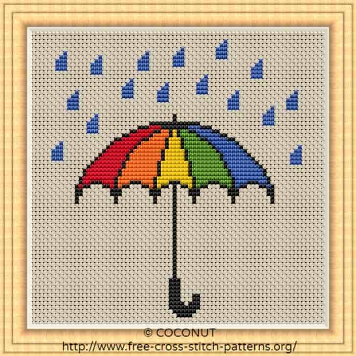 graphic about Umbrella Pattern Printable Free named UMBRELLA , Absolutely free AND Straightforward PRINTABLE CROSS STITCH Routine
