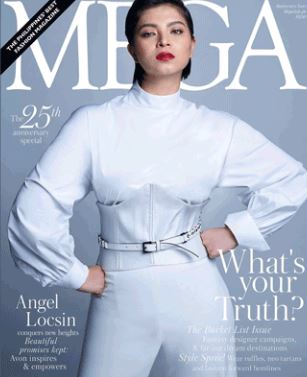 Three Years Ago, Angel Locsin's Beauty Was Seen On The Cover Of Mega Magazine's May 2015 Issue