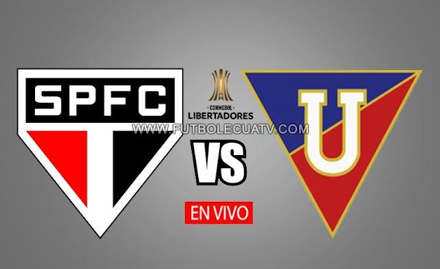 Sao Paulo recibe a Liga de Quito en vivo por la fecha dos Grupo D de la copa libertadores a partir de las 19h30 horario local a realizarse en el campo Morumbi, teniendo como árbitro principal al uruguayo Esteban Ostojich.